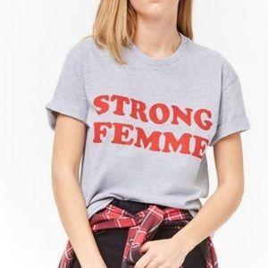 Forever 21 Strong Femme Short Sleeve Tee 10C